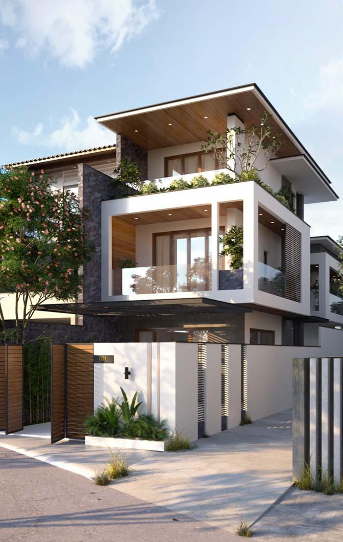 Casas modernas 100 modelos por fora por dentro e fotos for Fachadas modernas para casas 2016
