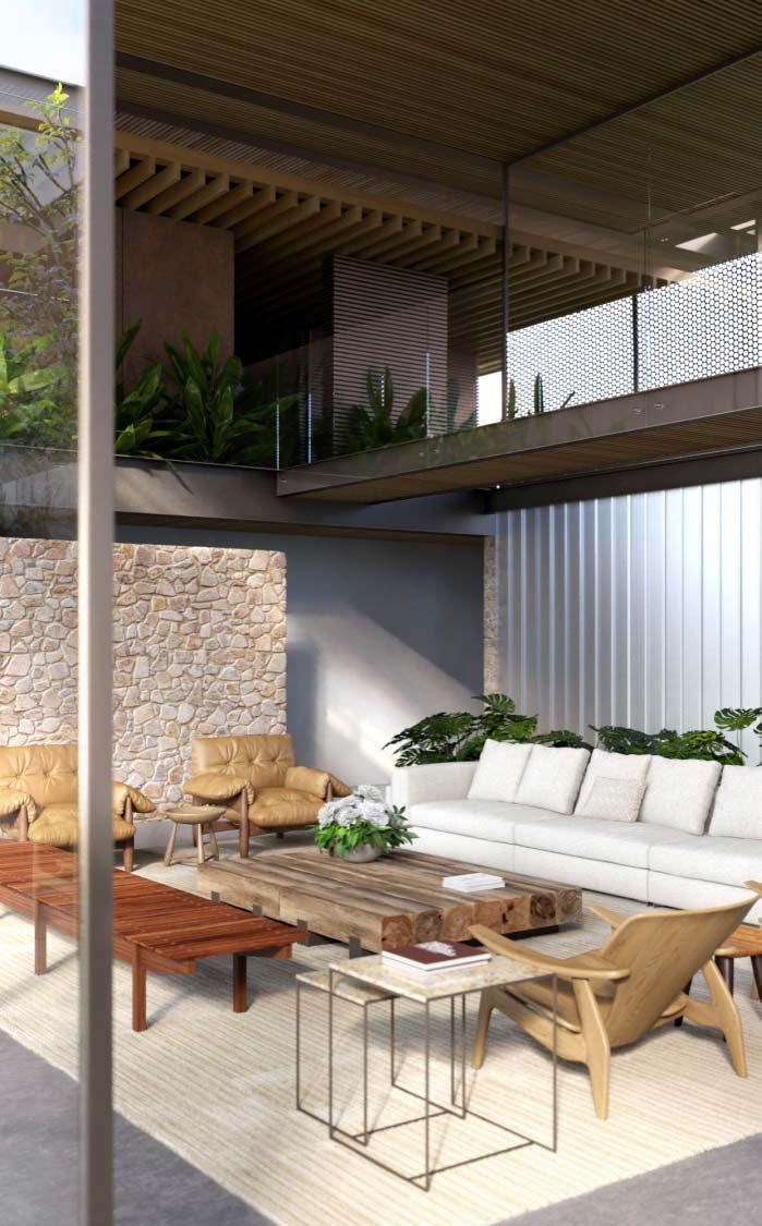 Iluminação natural valoriza a decoração da casa.