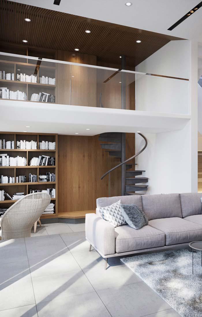 Integração entre os ambientes e entre os andares.