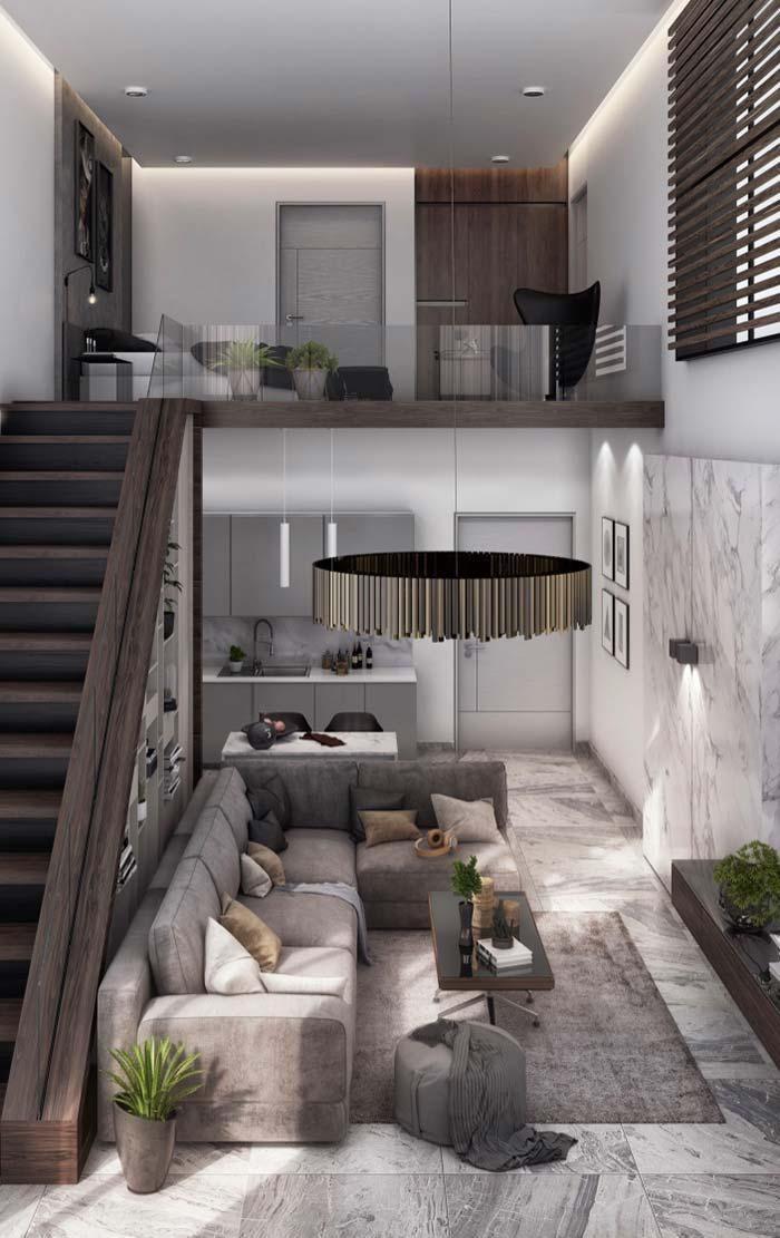 Casas modernas 100 modelos por fora por dentro e fotos for Fotos de interiores de casas modernas