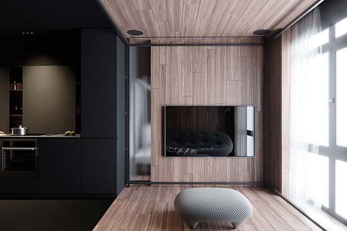 Estilos minimalista e modernista juntos na decoração dessa casa.