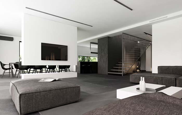 Casas modernas 100 modelos por fora por dentro e fotos for Casas minimalistas modernas interiores