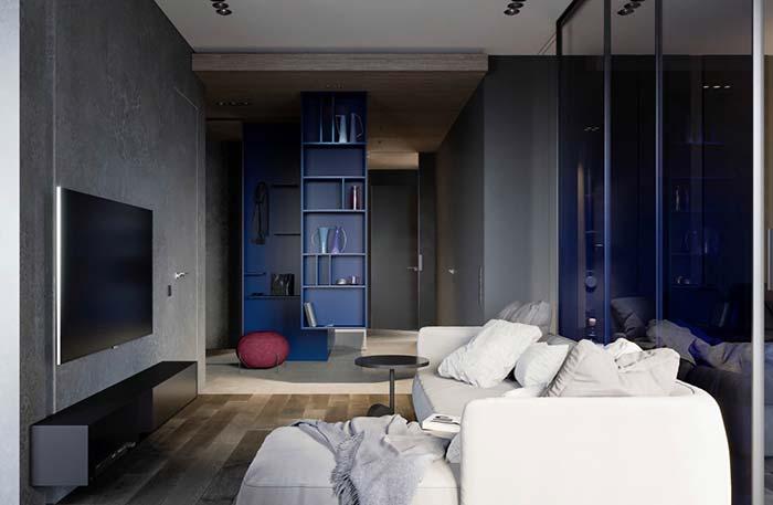 Cores neutras de fundo permitem utilizar tons mais vibrantes para destacar partes da decoração.