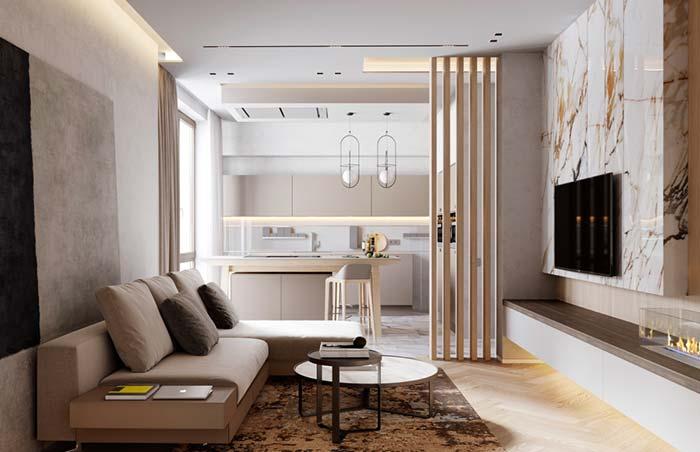 Mármore é um elemento atemporal, presente em decorações clássicas e modernas.