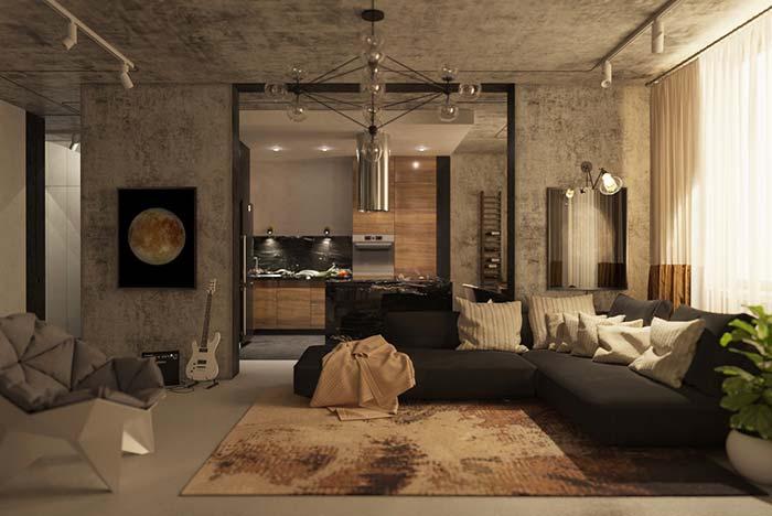 Casas modernas: concreto aparente e muitas peças com design arrojado criam uma decoração moderna e jovial.