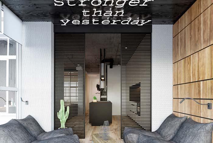 Casas modernas: elementos vazados podem ser incluídos em diversos locais da casa, inclusive nas portas.