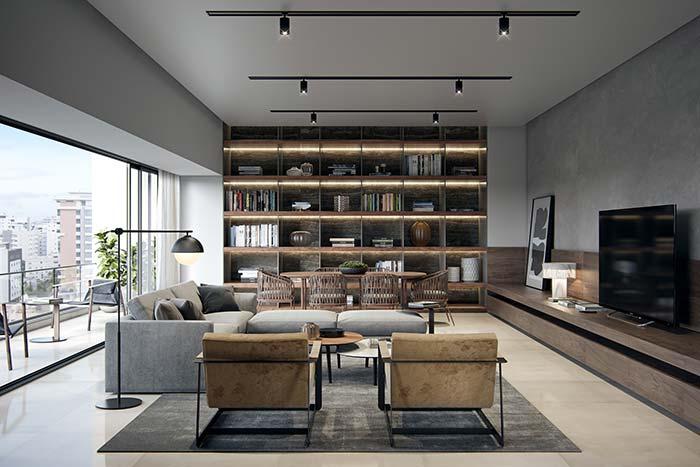 Organização do ambiente contribui para o aspecto clean da decoração de casas modernas.