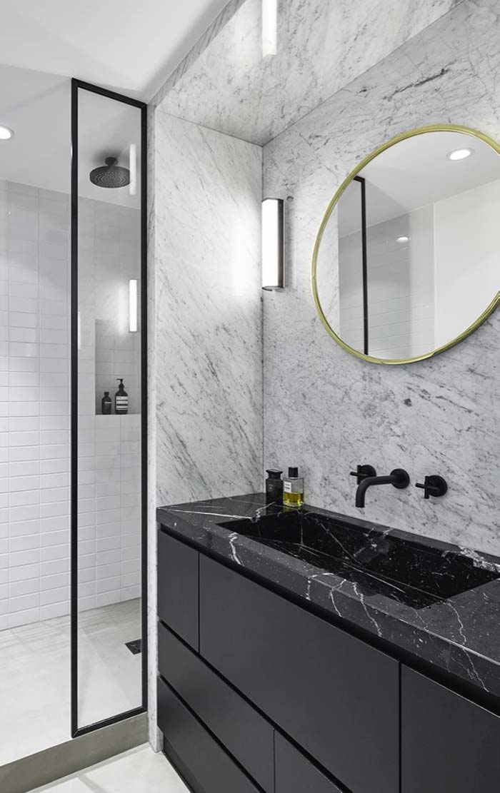 Mármore Carrara no banheiro