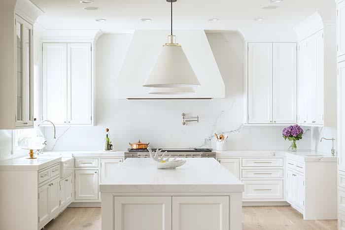 Branco total na cozinha