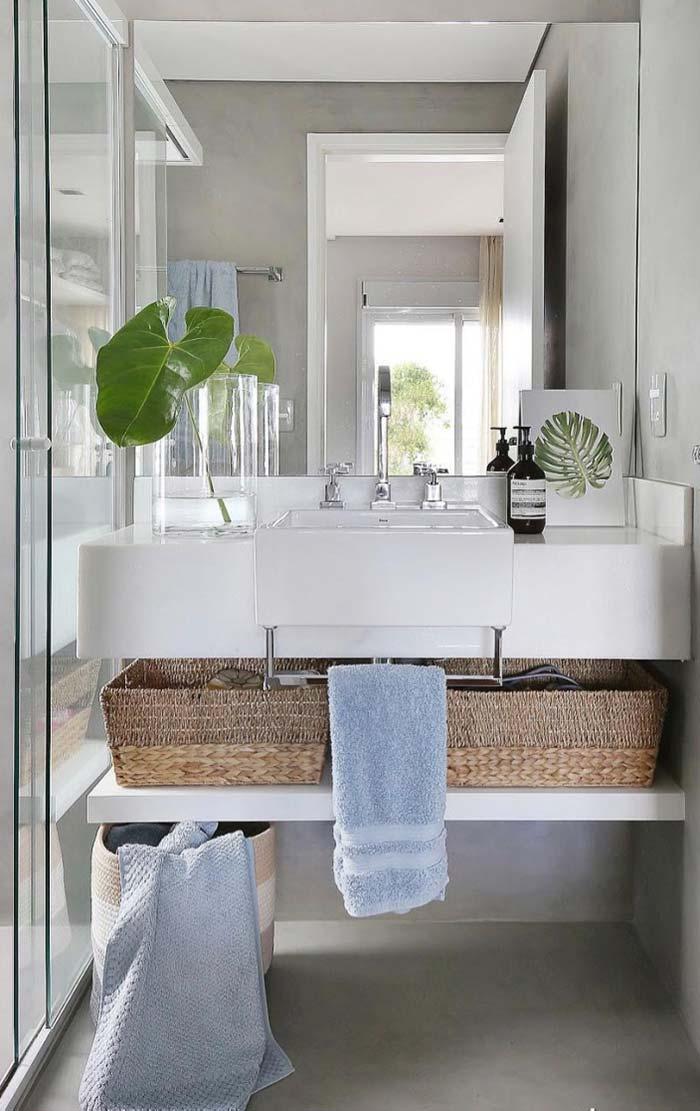 O rústico e o luxo no mesmo ambiente com mármore branco