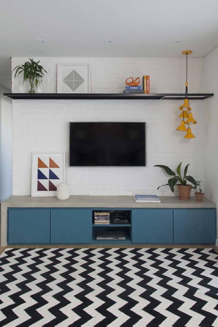 Rack para sala azul