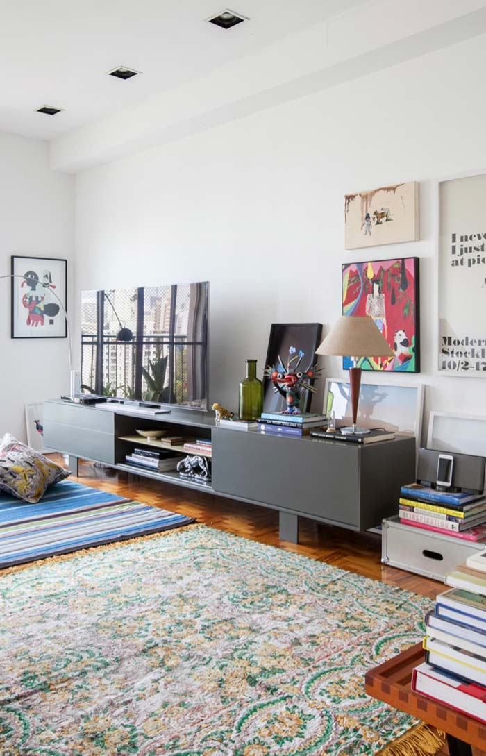 Rack para sala para organizar objetos decorativos