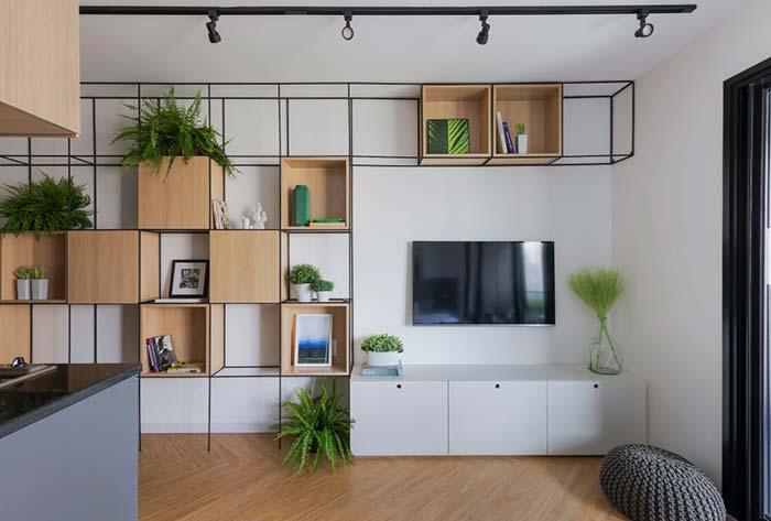Modelo de rack para sala pequeno