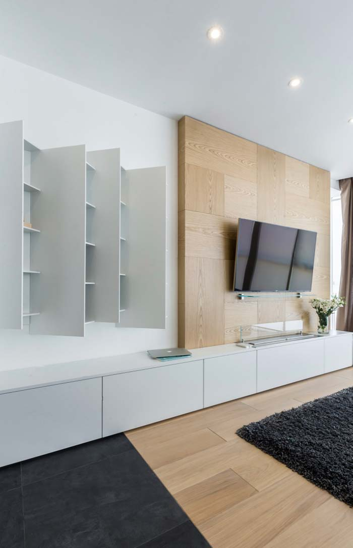 Rack e painel de TV