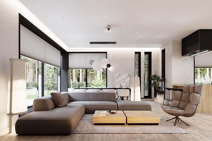 Sofá de canto sem almofadas