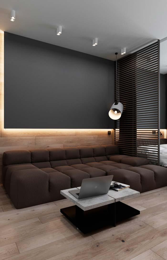 Modelo de sofá de chaise estilo futon