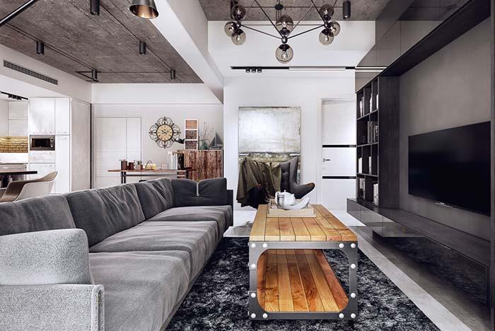 Sofá para sala retangular alongada