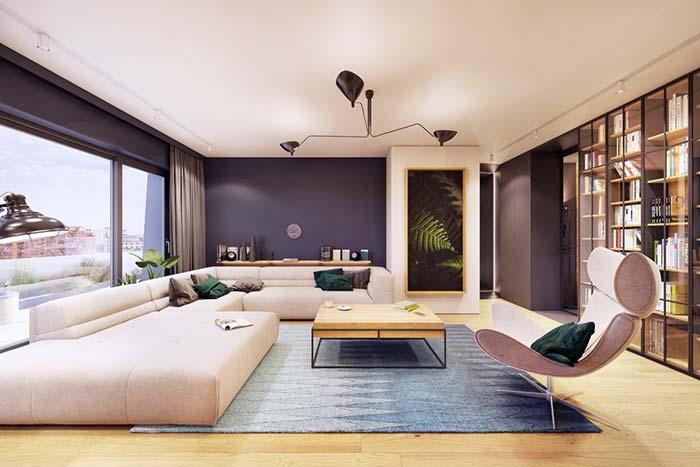 Sofá para relaxar e assistir TV