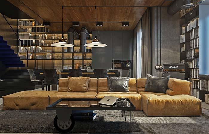 Sofá em destaque na sala