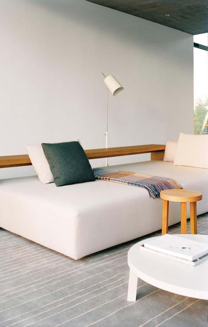 Sofá com chaise moderno
