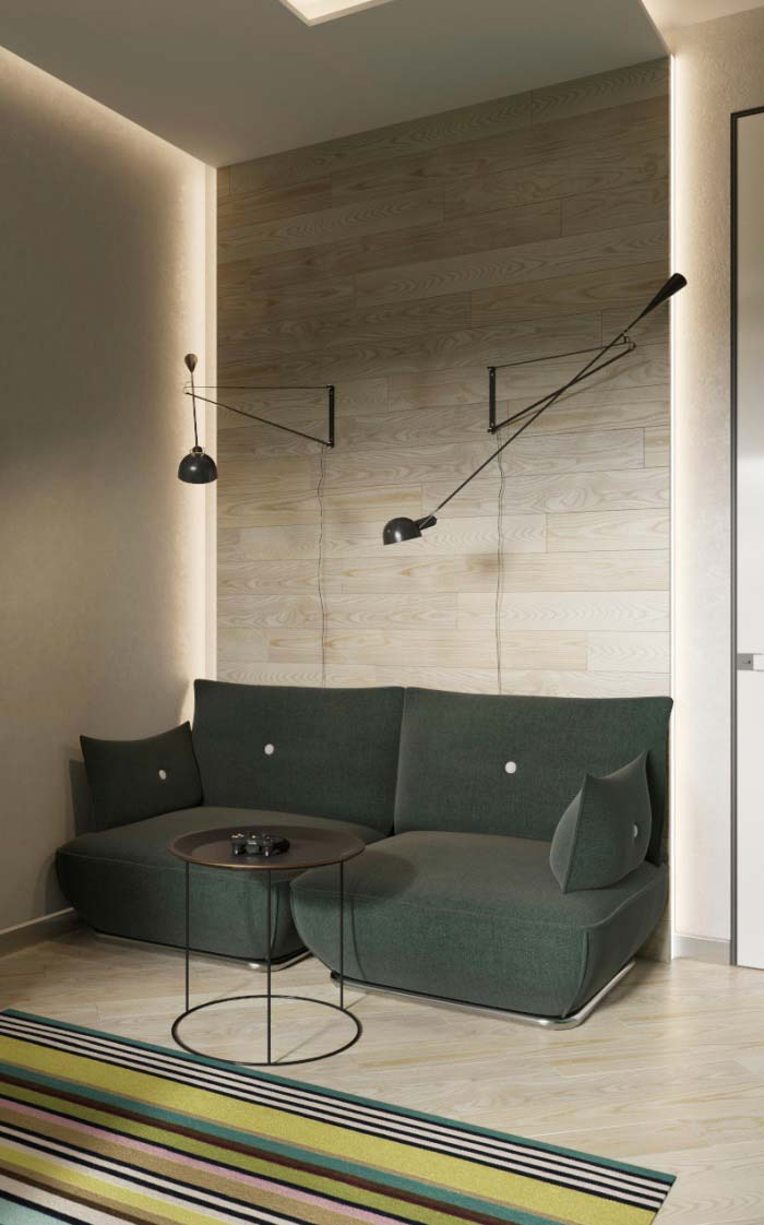 Sofá com design diferenciado
