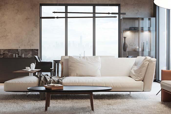 Sofá pequeno e elegante