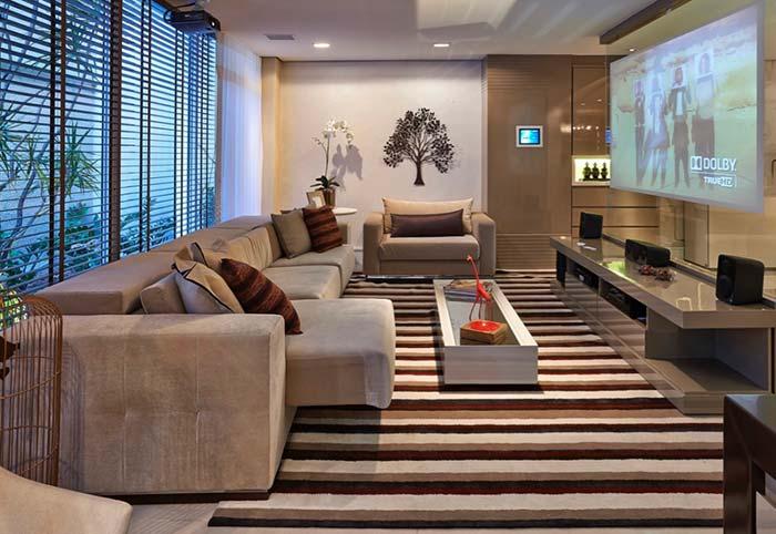 Sofá para sala de cinema