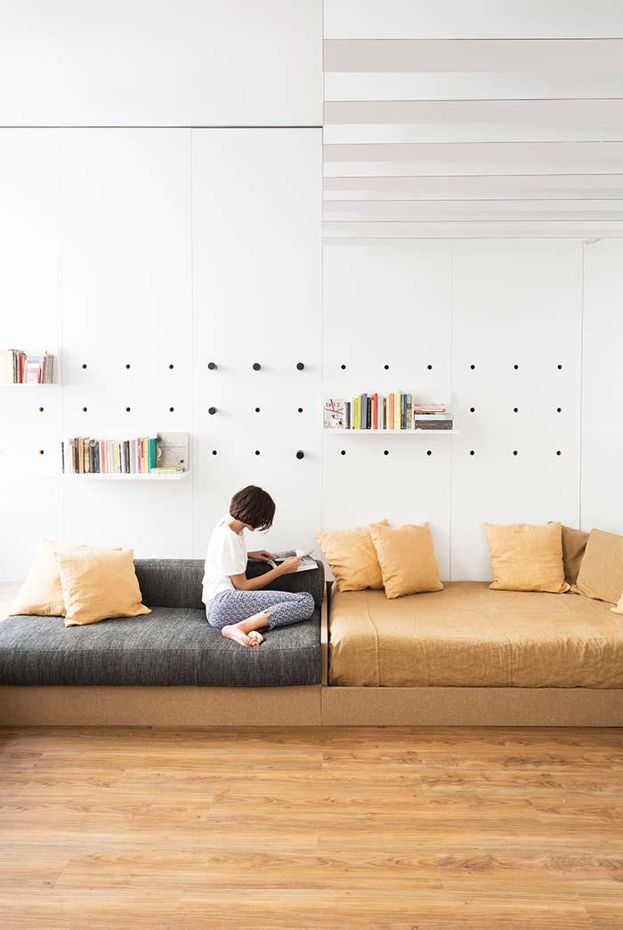 Tecidos macios são os mais indicados para sofás camas