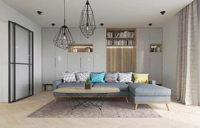 Chaise moderniza o sofá de estilo retrô