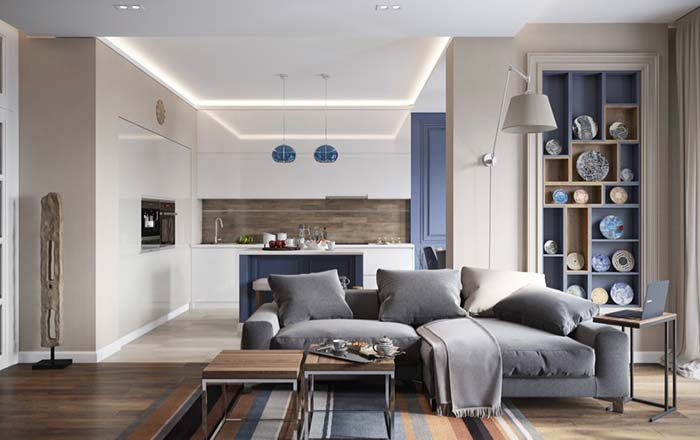 Modelo de sofá de dois lugares