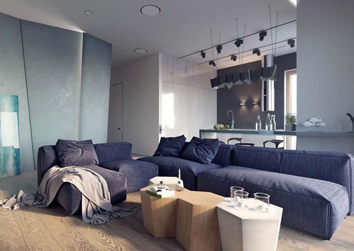Modelo de sofá modulado