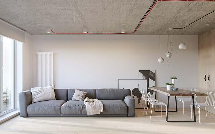 Modelo de sofá de 3 lugares