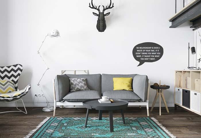 Sofá de linho para um ambiente moderno e descontraído