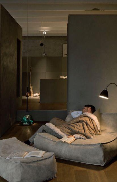 Sofá cama de sarja