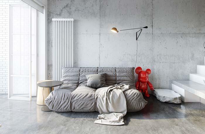 Sofá estilo futon de sarja