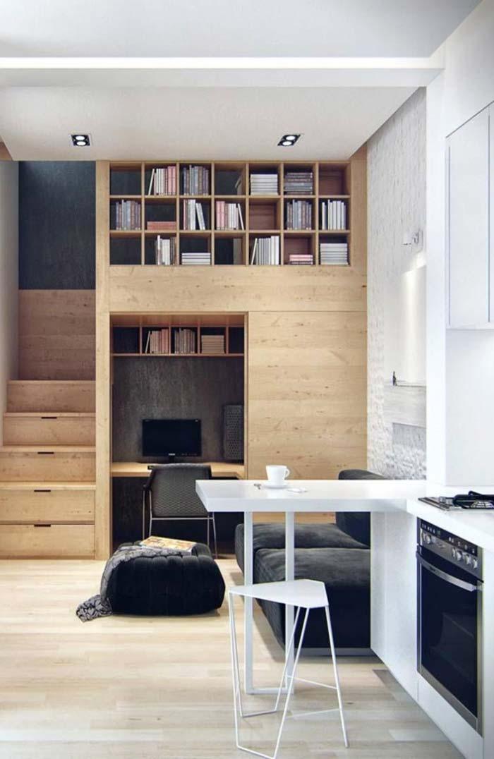 Escada de madeira criativa e original