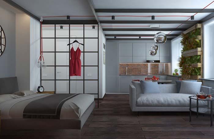 Decoração de apartamento pequeno sem paredes