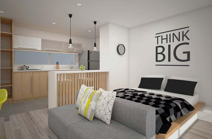 Decoração de apartamento pequenino