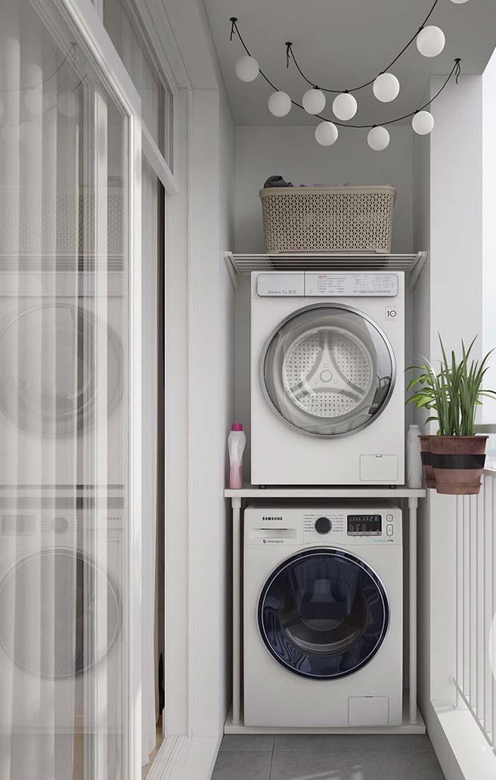 Decoração de apartamento pequeno com lavanderia