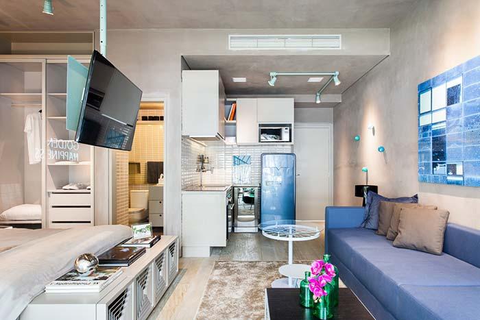 Decoração de apartamento sem porta