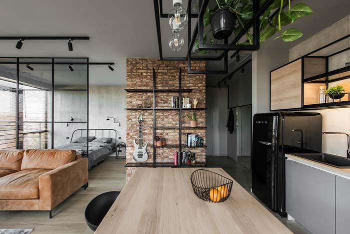 Decoração rústica para apartamento pequeno