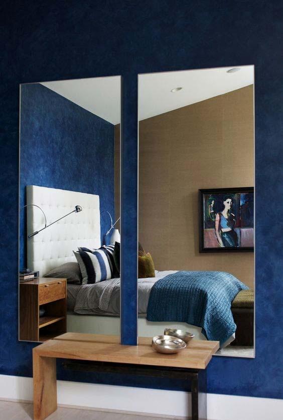 Espelho para quarto lateral fragmentado