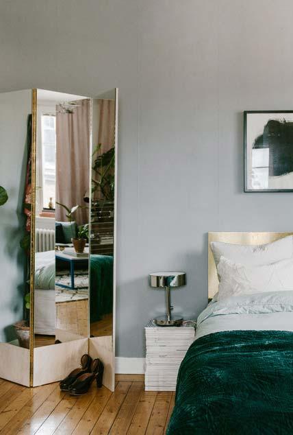 Biombo espelhado para quarto