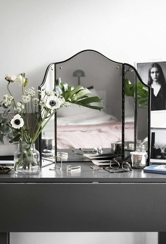 Espelho para quarto triplo para penteadeira