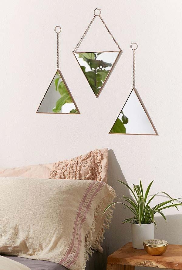 Tríptico triangular para quarto