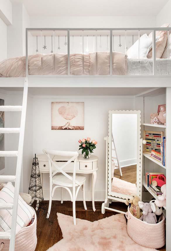 Espelho de chão para quarto feminino infantil