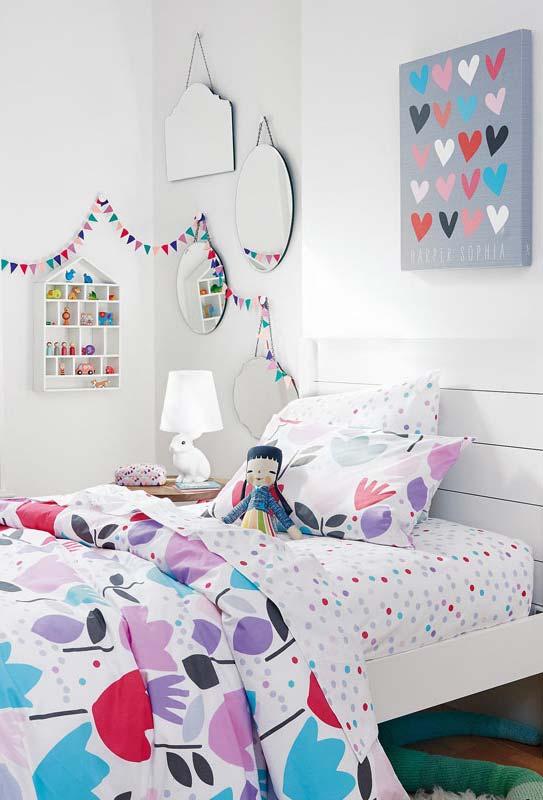 Conjunto de espelhos para quarto simples infantil