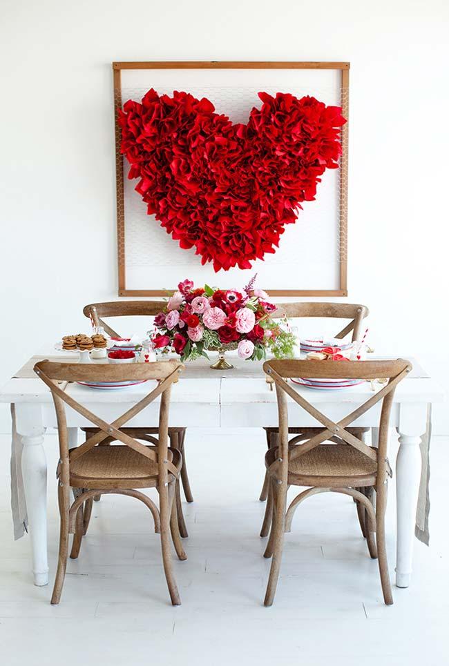 Decoração especial para o jantar romântico