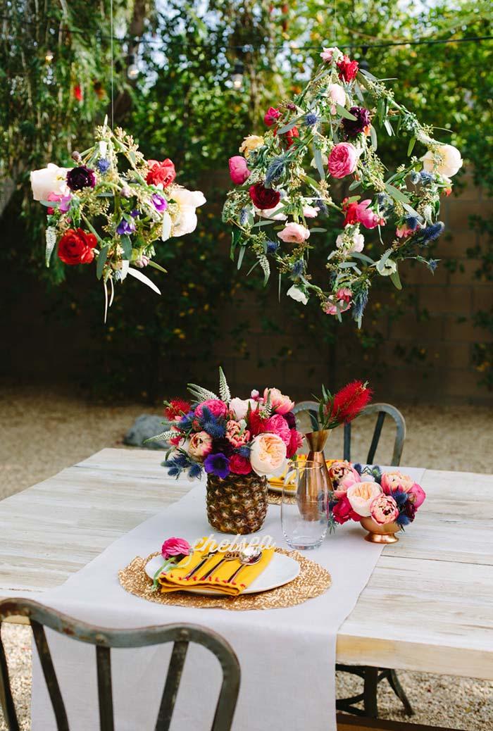Jantar romântico ao ar livre