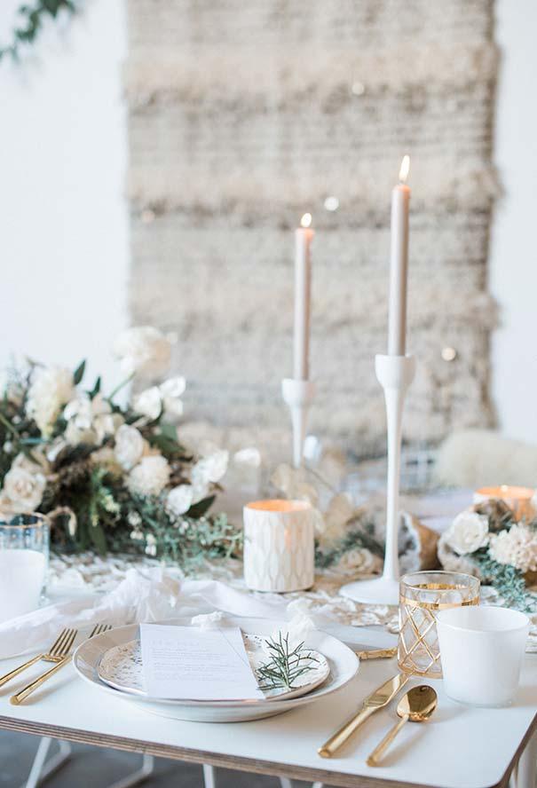 Decoração de jantar romântico inspirado num clima mais frio